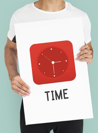 tardiness: Time Clock Graphics Icon Symbol