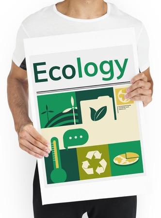 Environmental conservation energy saving graphic