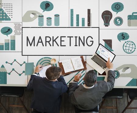 Business people meeting financial marketing plan Imagens