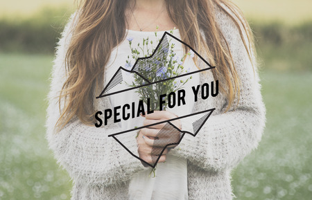 yourself: Special For You Flower Phrase Words