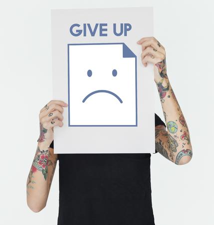 Sadness Fail Problem Recession Down Frustration Icon Reklamní fotografie - 79700717