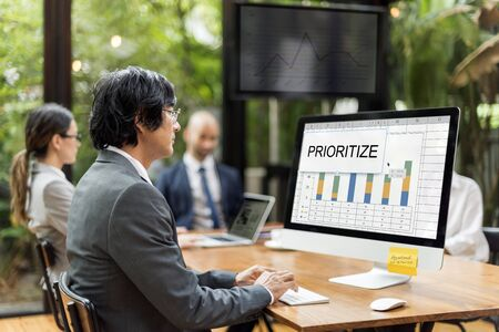 Prioritize Effectivity Important Rank Tasks Urgent Stock Photo