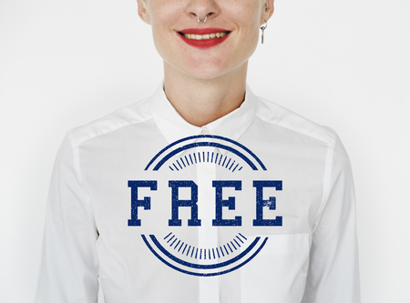 Free space blank badge graphic