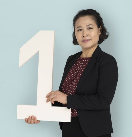 Asian Business Woman Number One Stok Fotoğraf