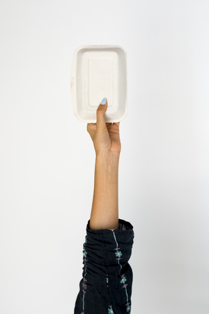 Hand Hold Show Recyclable Paper Food Box