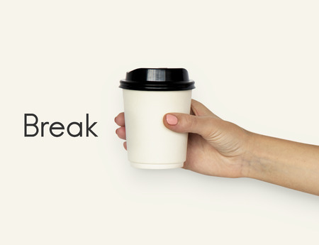 Coffee Cup Paper Mug Break Stock Photo