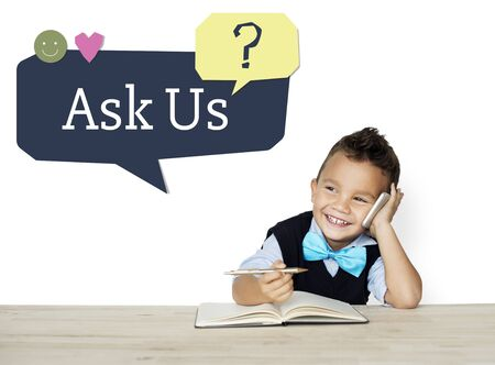 Ask Us Assistance Support Concept Stok Fotoğraf