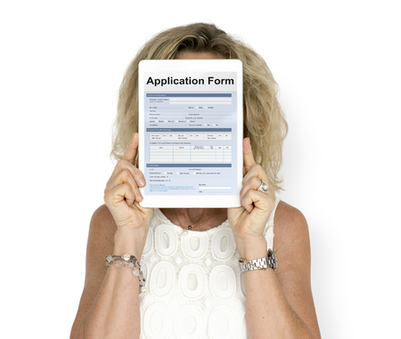 Graphic of application form balnk detail information