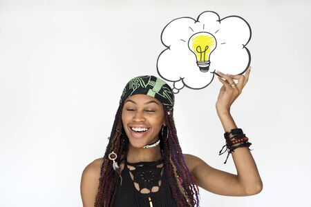 Light bulb icon idea thoughts vision design