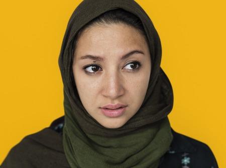 Beautiful woman in hijab