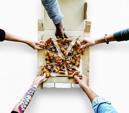 Pizza Meal Food Slice Cut Bake
