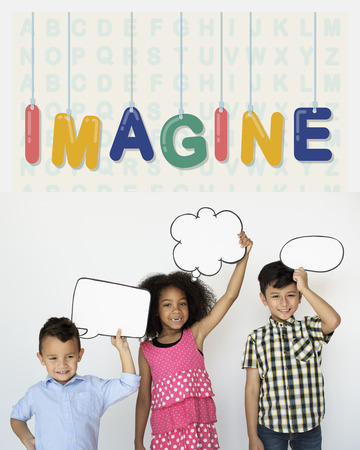 Children with imagine concept