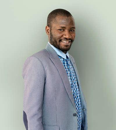 Adult African Man Smile Studio Portrait