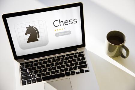 Illustration of chess strategic mind game application
