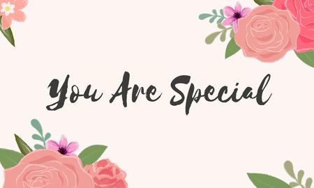 U bent speciale letter woorden tekstafbeelding Stockfoto