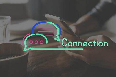 drink me: Communication Connection Speech Bubble Concept
