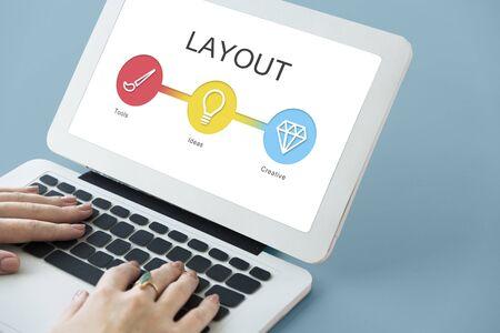 웹 사이트 템플릿 컨텐츠 개발 개념 스톡 콘텐츠