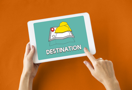 finding: GPS location map travel graphic Stock Photo