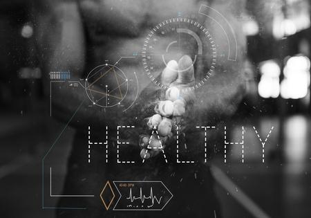 웰빙 건강 라이프 스타일 운동 그래픽 단어