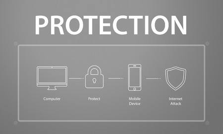 Computer Security System Data Protection Graphic