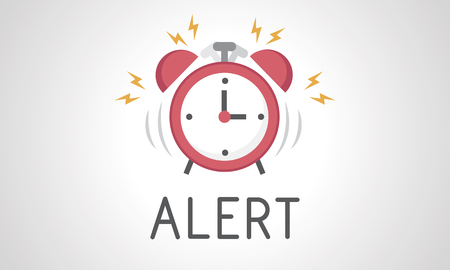 illustration of alarm clock icon notification Stock Photo