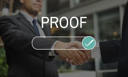 Bewijsproef Gecontroleerde Certificaat Verzekering Stockfoto