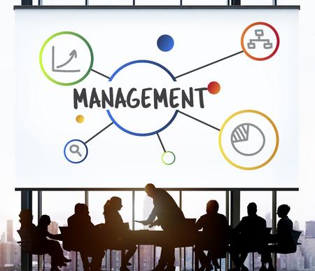 ビジネス経営管理組織コンセプト 写真素材
