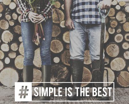 Eenvoudig eenvoudiger Minimal Simple Clear