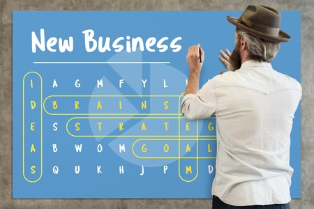 Man with new business concept