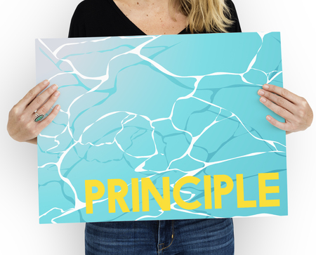 Morality Principle Virtuous Water Graphic Word