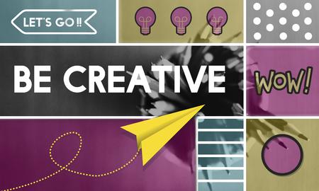 Creatief denkend creativiteit inspiratieconcept