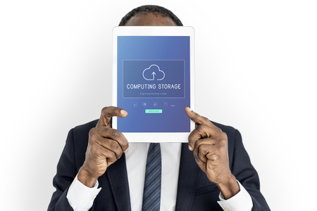Computer opslag is een data-draadloze technologie. Stockfoto