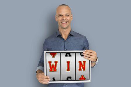 Win Ja Wow Job Win Stockfoto