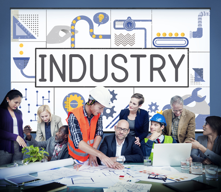 Manufacture Production Industry Ideas Concept Imagens - 79642362