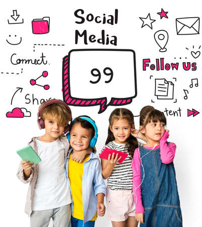 socialise: Communication Stay Connected Community Concept Stock Photo