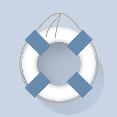 人生泳ぐチューブ ベクトル図  イラスト・ベクター素材