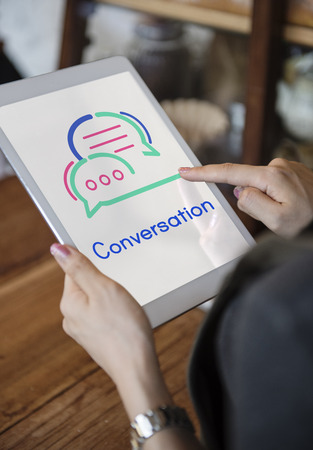 Tablet with conversation concept