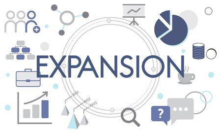 Entrepreneur Expansion Goals Target Фото со стока