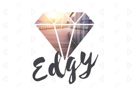 Edgy Different Unique Original Diamond Word Stock Photo - 79906227