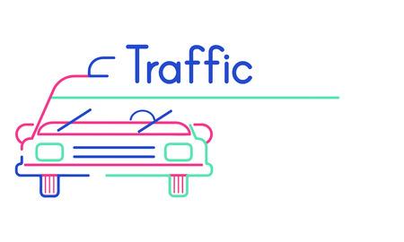 Illustration of automotive car rental transportation Stock Photo