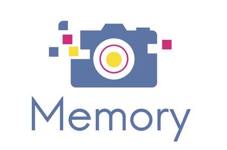 Camera is a device for capture a memory. 版權商用圖片