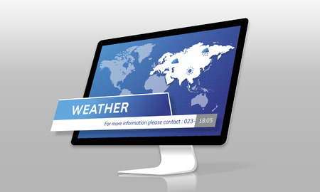 Weather Forecast Special Report Concept Stock Photo