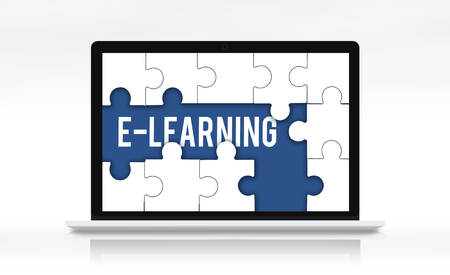 Education Learning Puzzle Pieces Graphic Stock Photo