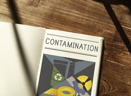 Chemical Contamination Infection Pollution Concept Reklamní fotografie