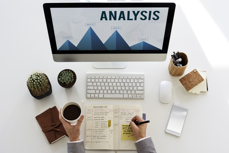 Analysis Strategy Study Information Business Planning Stock Photo