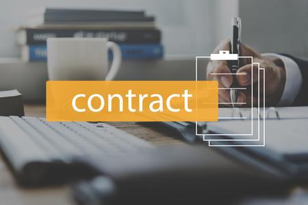 契約金融ビジネス雇用単語 写真素材