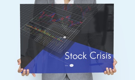 Stock Crisis Recession Loss Decrease Graph Stock Photo