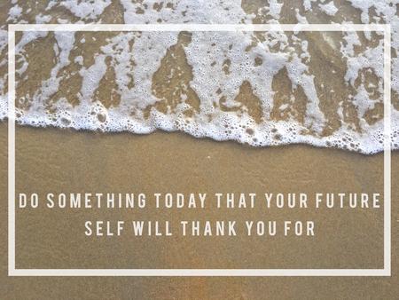 미래를 위해 뭔가를 오늘하십시오. 스톡 콘텐츠
