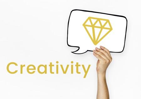 Graphic of creative design with diamond symbol Stock Photo