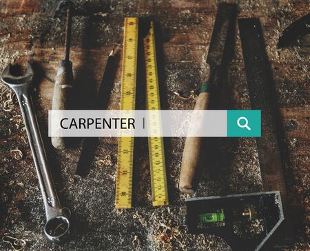 Carpenter Wood Work Tools Concept Stock Photo